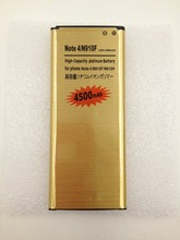 4500mAh Gold Battery For Samsung Galaxy Note 4 N910 N9100 N910F N910H N9106W N9108V N9109W (China (Mainland))