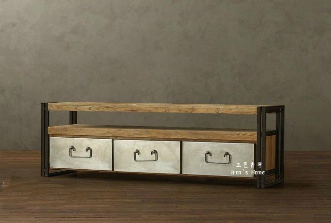 Ikea meuble tv salon moderne minimaliste mode r tro meubles en bois meuble tv - Meuble tv minimaliste ...