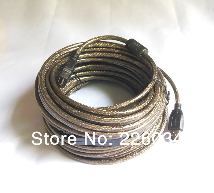 3pcs/lot Active 15M USB2.0 extension cable cord male to female with chipset+Free Shipping(China (Mainland))