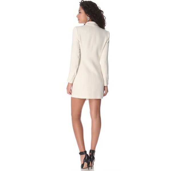 White Jacket Dress - Coat Nj