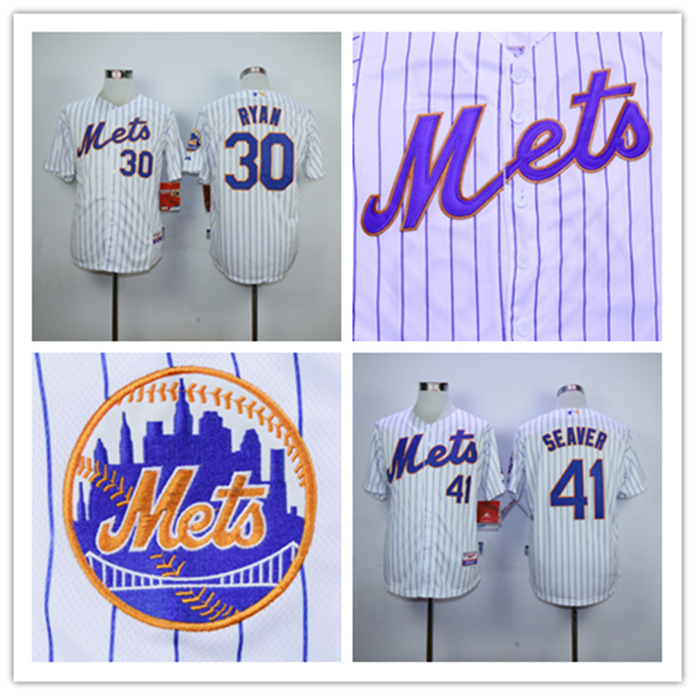Nolan Ryan Jerseys New York Mets 41 Tom Seaver Jersey,Nolan Ryan Jersey White Embroidery Logos Jersey Size S-XXXL Free Shipping<br><br>Aliexpress
