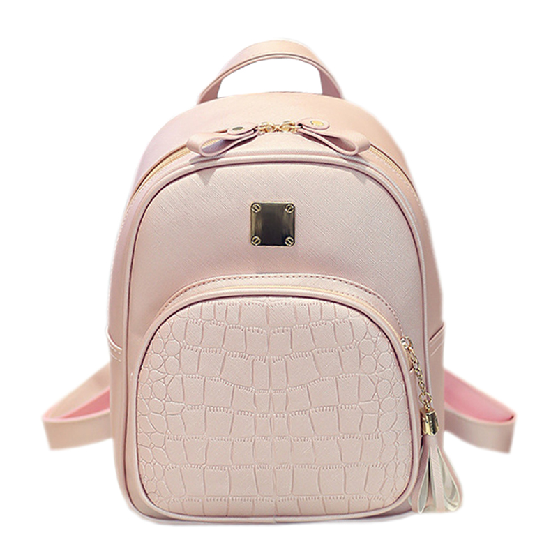 Alligator Pattern Girl School Bags For Teenagers Women Small Backpack Black Leather Women's Backpacks Fashion Female Backpacks(China (Mainland))