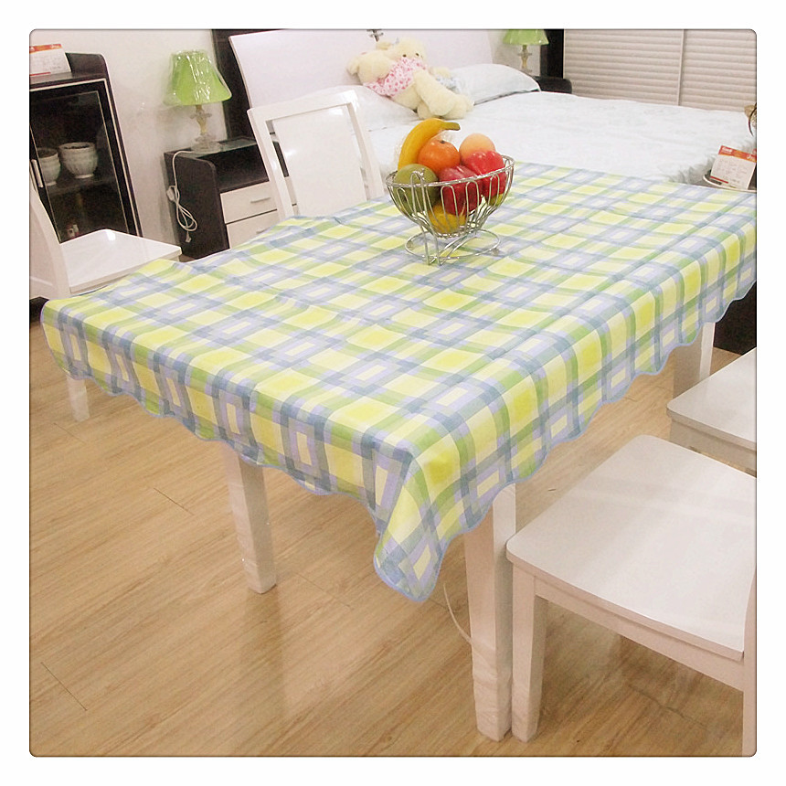 PVC Tablecloth Royal Blue Green Plaid Tablecloths Guardanapo Plastic Table Cloth Bruiloft Table Overlays For Weddings Kitchen(China (Mainland))
