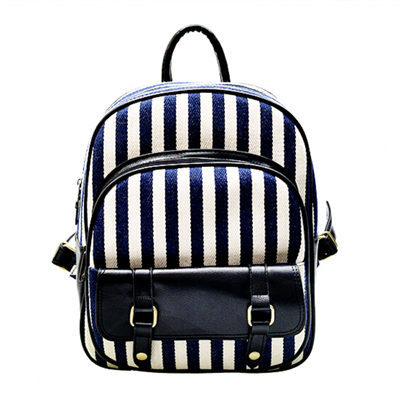 2015 New Spring&amp;Summer style Striped women backpack Preppy backpack female Fashion Canvas+Leather Women bag School backpack B101<br><br>Aliexpress