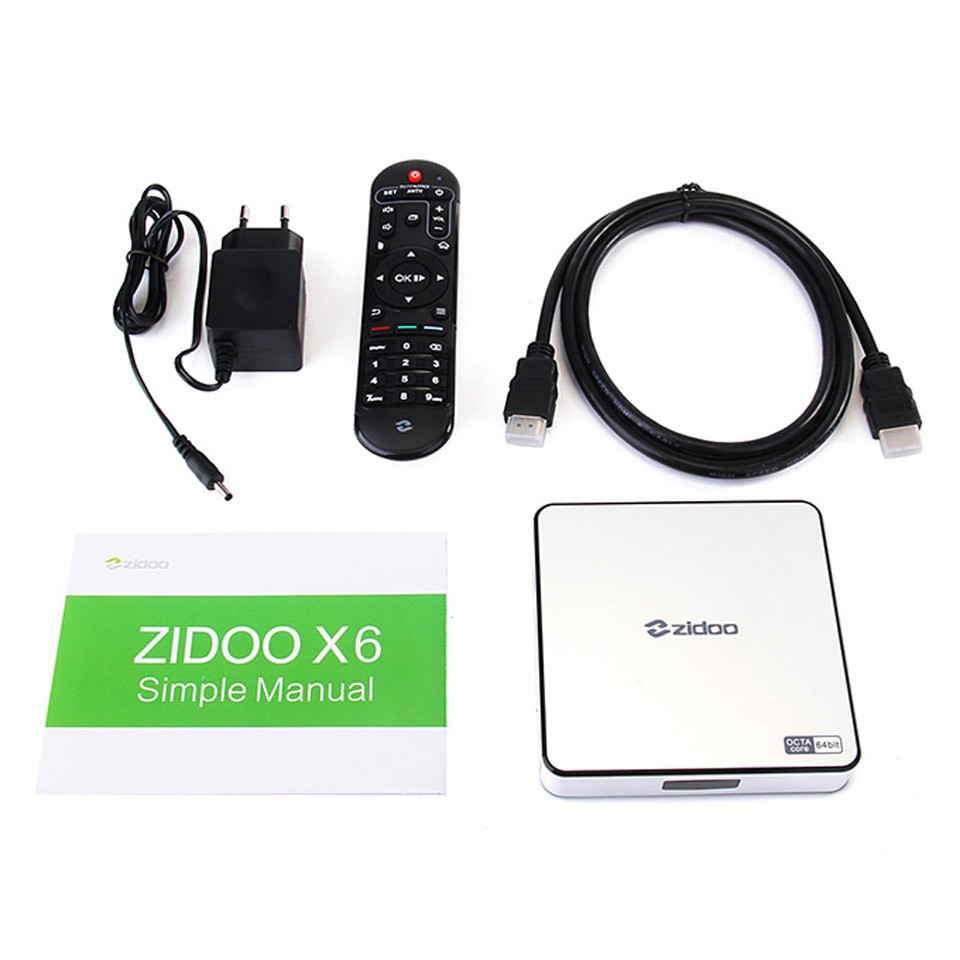 image for In Stock!ZIDOO X6 Pro Android 5.1 Lollipop TV Box RK3368 Octa Core Cor