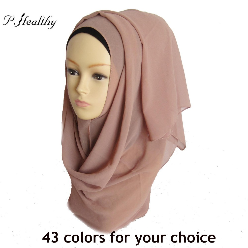 High quality plain bubble chiffon printe solid color shawls headband beach popular hijab summer muslim scarves/scarf,PH024(China (Mainland))