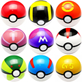9pcs set 7cm Pokemon Pokeball ABS Figures Japanese Hot Anime Pokemon PokeBall Toys Cosplay Collections Gifts