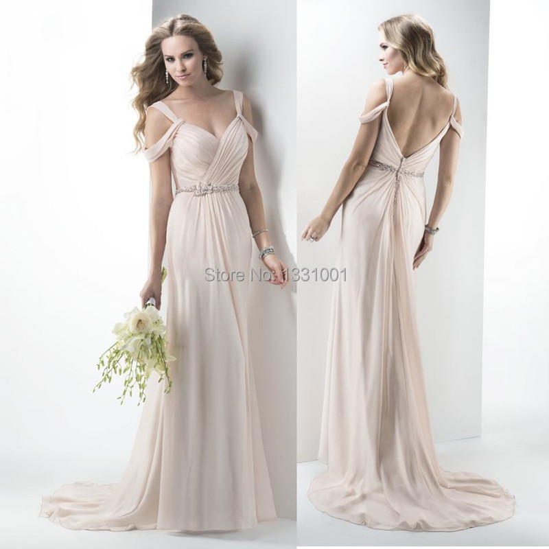 2015 modern style sexy v neck beach boho wedding dress for Chic modern wedding dresses