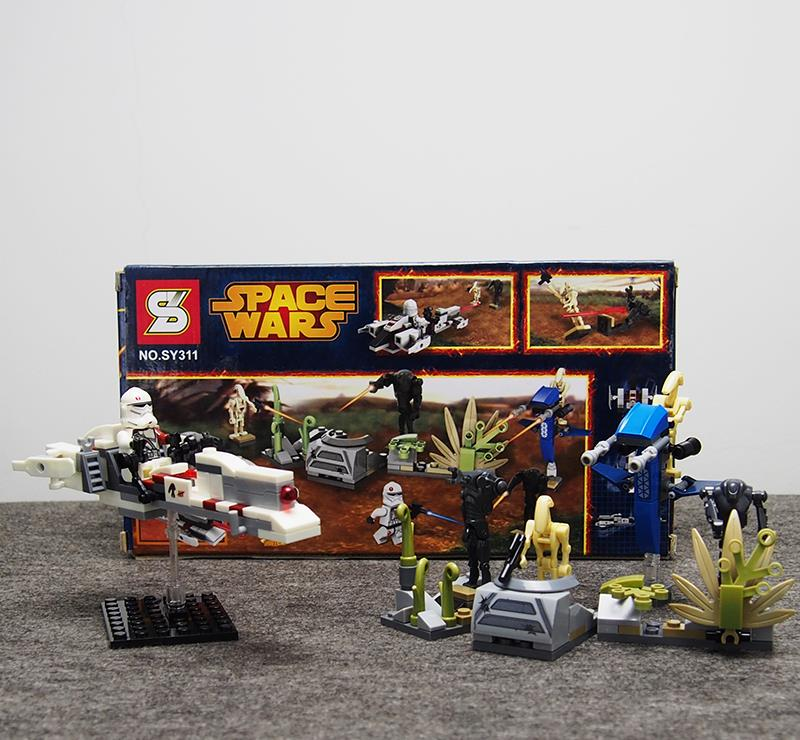 189pcs STAR WARS Battle on Saleucami BARC SPEEDER Clone War Super Battle Droids Minifigures Building Blocks Compatible with LEGO(China (Mainland))