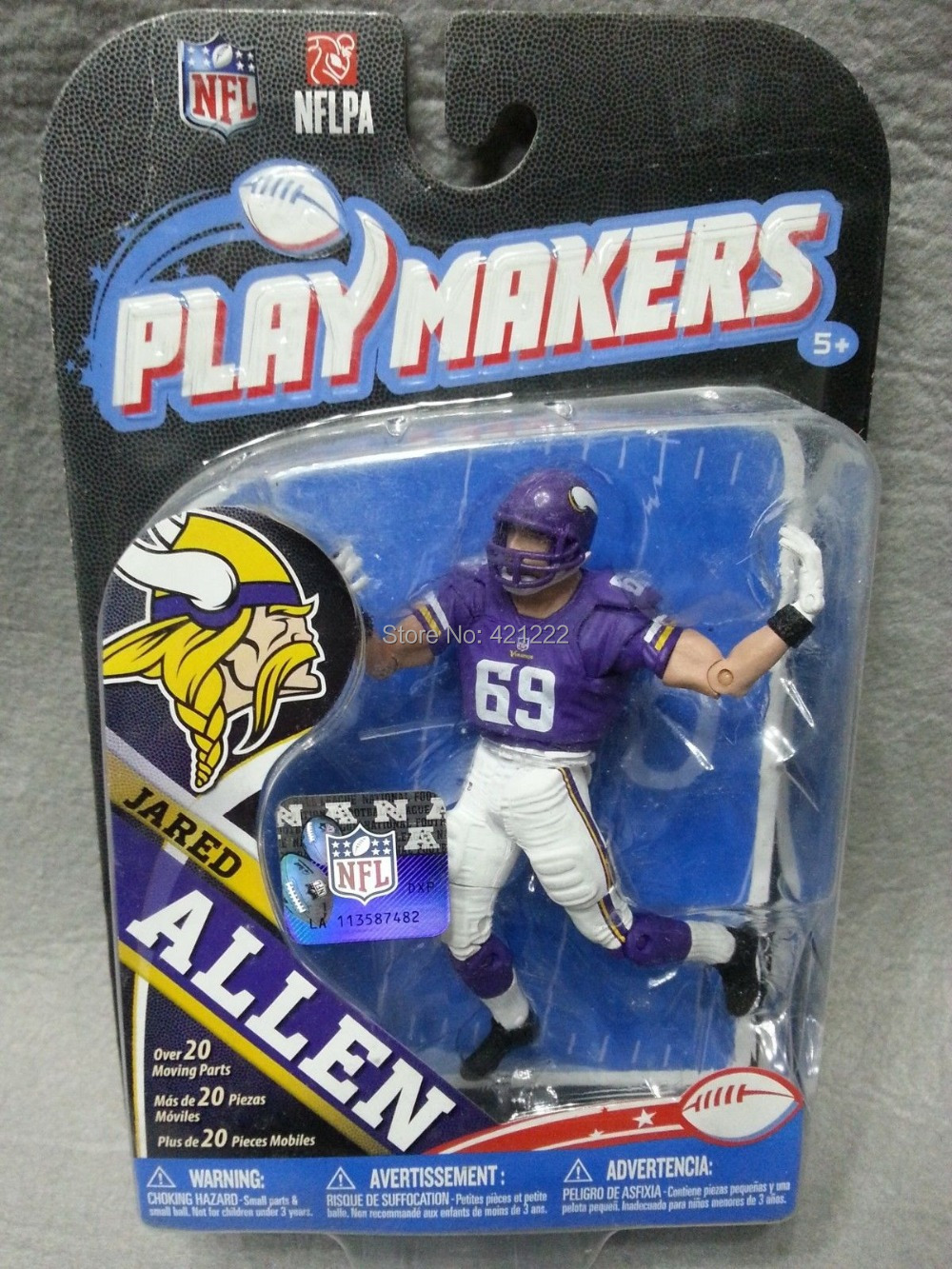 "NEW McFarlane NFL Playmakers Series 4 Jared Allen Action Figure 3.75"" Minnesota Vikings(China (Mainland))"