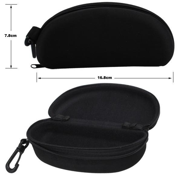 Zipper Eye Glasses Sunglasses Hard Case Cover Bag Storage Box Portable Protector Black H1E1(China (Mainland))