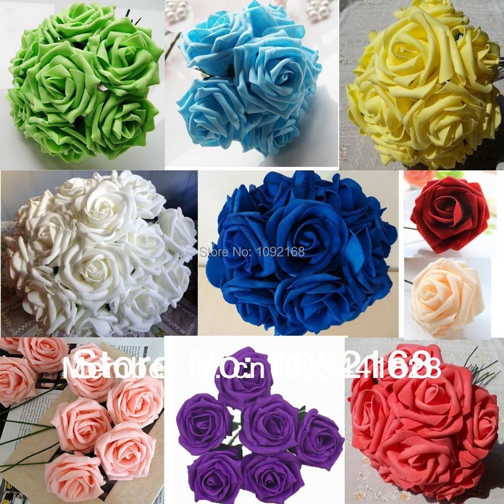 Bouquet Artificial Foam Rose Wedding Centerpiece Floral Fake Flower