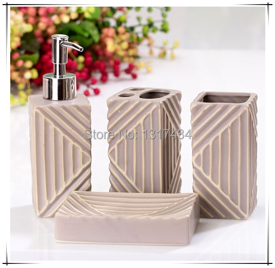 Elegant Chinese style four-piece bathroom set product toothbrush holder soap dispenser soap dish tooth mug bathroom accessories(China (Mainland))