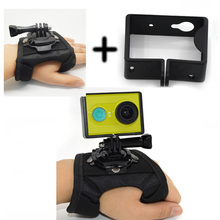 New  Action Camera 360-degree Rotation Strap Mount add Protective Frame Case  fixed belt For yi sport camera wrist band
