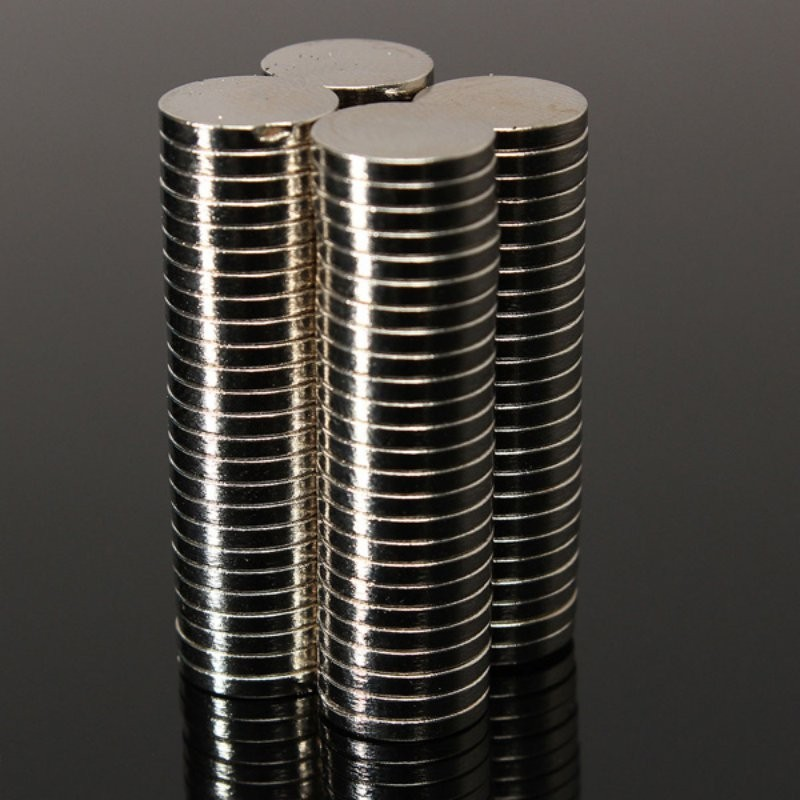 50 pcs Strong Round Dia. 8mm x 1.5mm Rare Earth Neodymium Magnet Art Craft Fridge