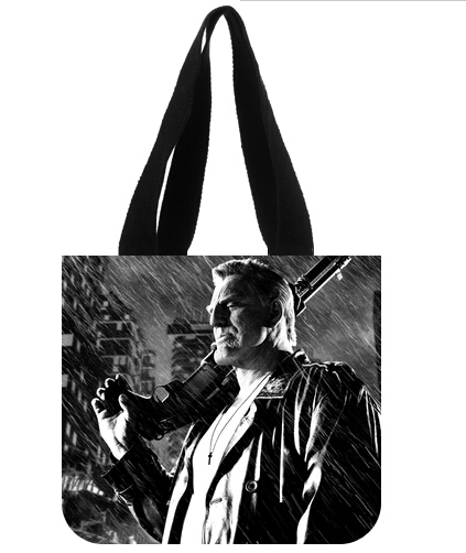 Bruce Willis Theme Shopping Bags Wholesale and Retail Tote Bags with Long Straps(China (Mainland))