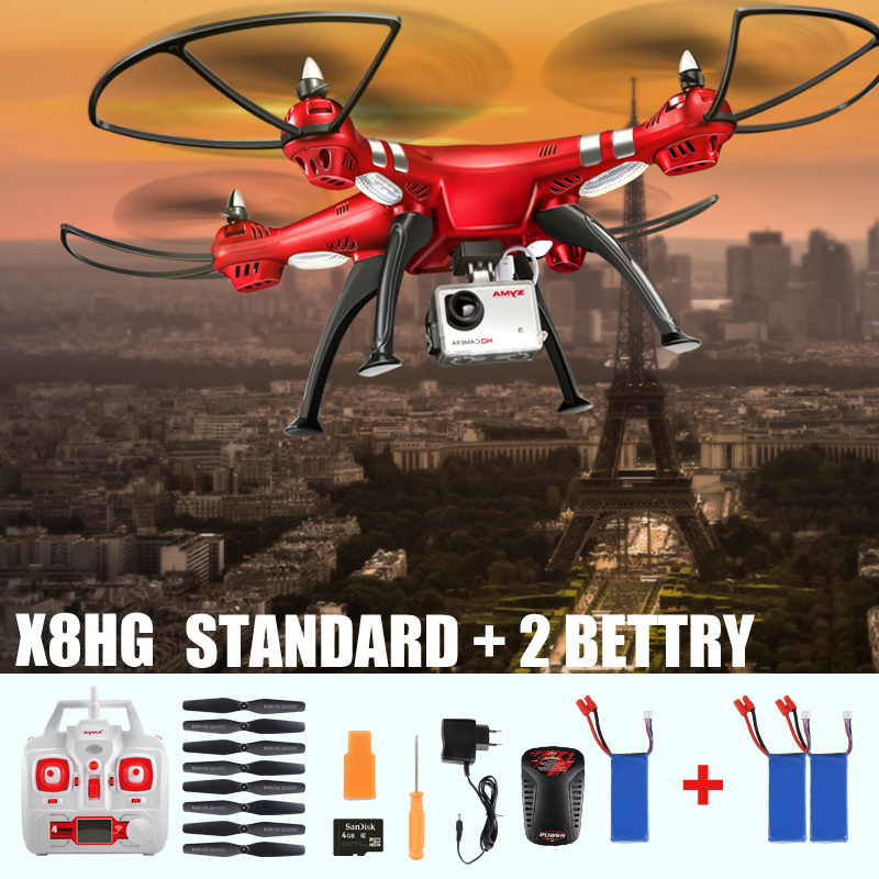 Original SYMA X8HC X8HW X8HG 2.4G 4CH 6Axis Gyro with wifi real time Quadcopter Headless RC UAV 360 Roll Drone 3 battery Kid Toy(China (Mainland))