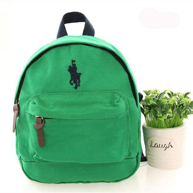 Дети поло школьные сумки анти-потерянный холст рюкзак Дети 100% хлопок mochila infantil ...