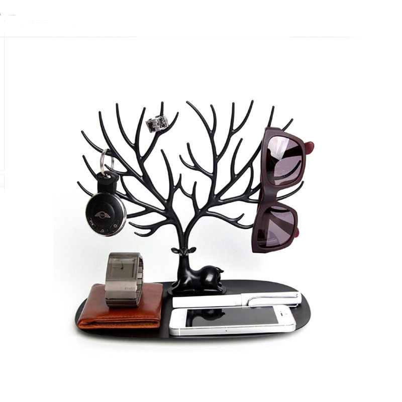 Jewelry Display Tray My Little Deer Accessories Bracelet Storage Tree Shelf Stand Holder Organizer for Earrings Necklace Ring(China (Mainland))