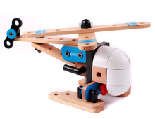 Assembled helicopter assembly, educational toys, wooden support DIY, best gift to send their children to improve intelligence