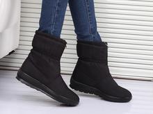 Botas de nieve 2016 de Invierno de la marca caliente antideslizante algodón otoño invierno botas impermeables botas de mujer zapatos de la madre ocasional femal zapatos(China (Mainland))