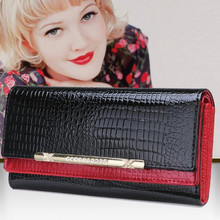Buy New Fashion Crocodile Women Wallets Genuine Leather High Long Female Wallets Brand Designer Clutch Casual Womens Purses for $15.64 in AliExpress store