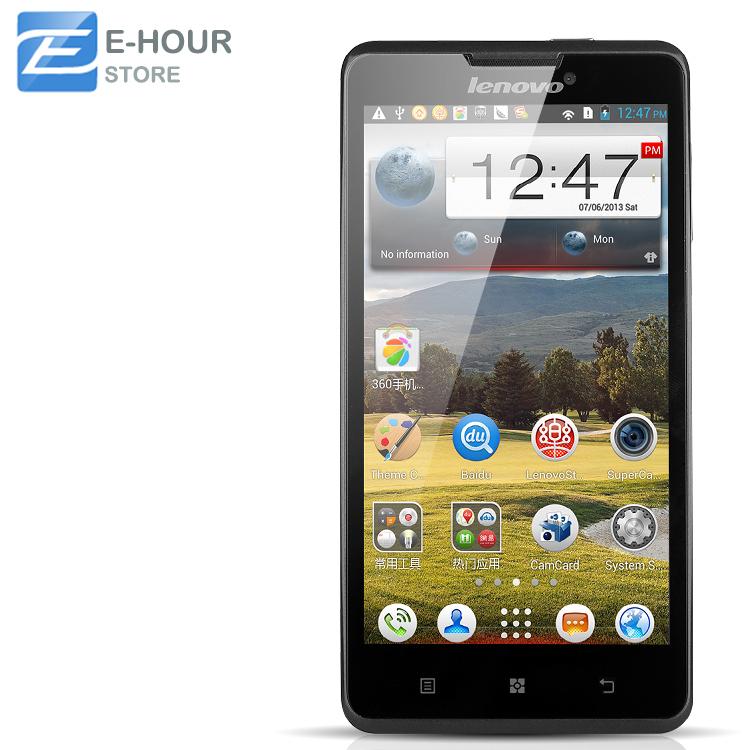 "Original Lenovo P780 Cell Phone MTK6589 Quad Core 1.2GHz Android 4.2 5.0"" HD 1280x720 1GB RAM 4GB ROM 8.0MP Camera Google Play(Hong Kong)"