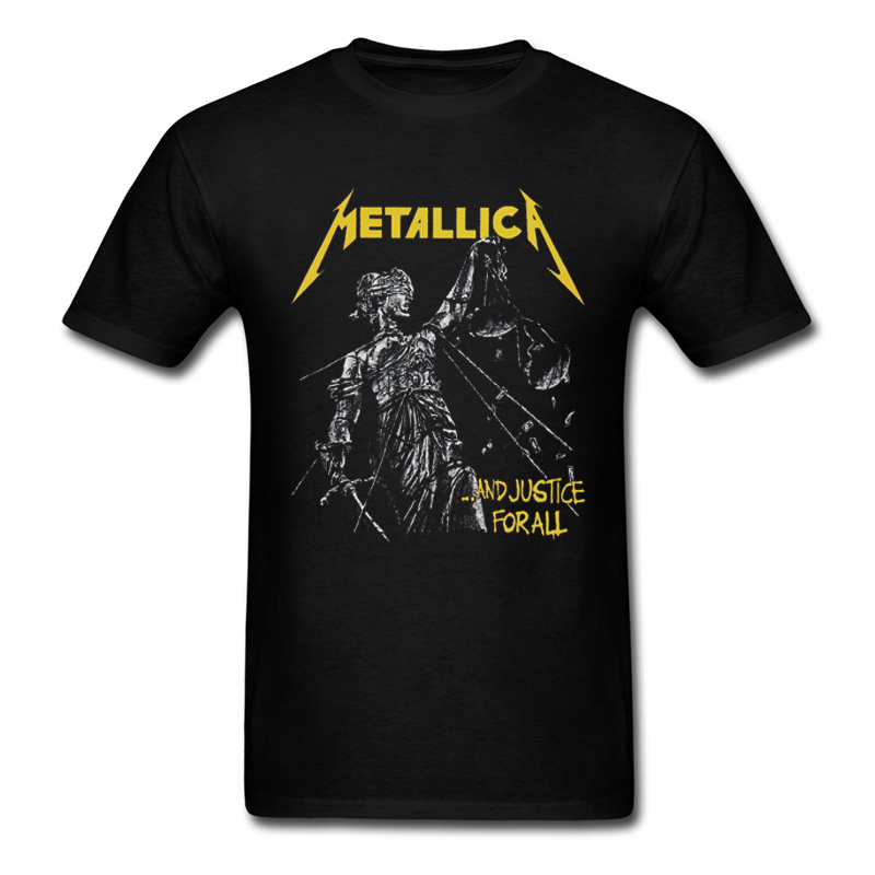 Metallica And Justice For All Men's T Shirt New Fashion Heavy Metal Music Band 100% Cotton Top Tee Summer Adult T-shirts S-3XL(China (Mainland))