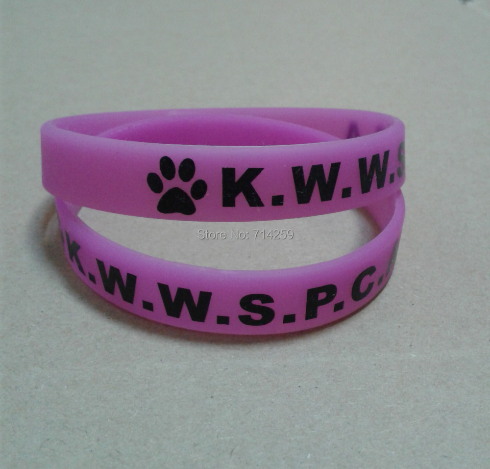 100PCS/Lot Free Shipping Customized Logo Rubber Silicone Wristband For Gifts P090303(China (Mainland))