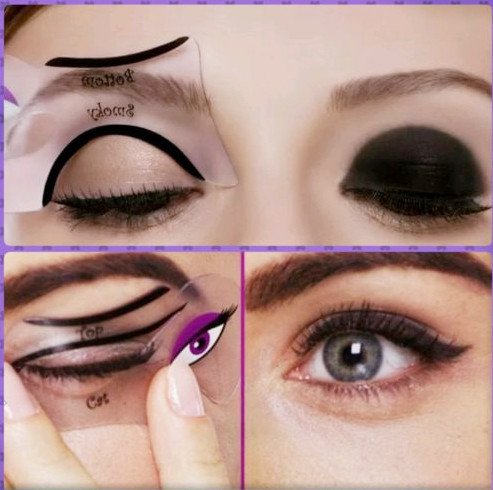 4pcs Cat Eye Liner Stencil with Smokey Eyeliner Stencil Makeup Template Free Shipping