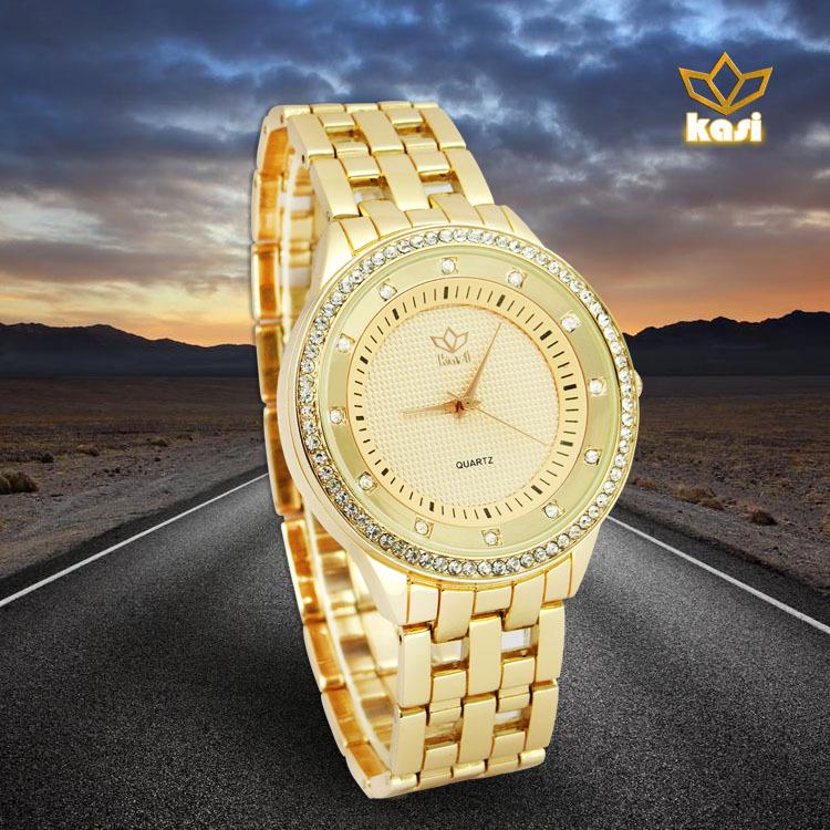 Kasi Lovers Watch Waterproof Quartz Imported Movement Luxury Diamond Series Business Company Classic Leisure 2015 hotsell(China (Mainland))