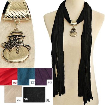 magic jewelled christas snowman pendant necklace wraps shawl pashmina scarf,fall scarves,mixed colors, original factory supply