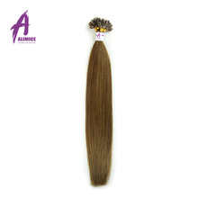 Alimice Fusion Hair Extensions Pre-Bonded European Remy Hair Extensions Straight 100% Human Hair Top Quality Hot Sale(China (Mainland))