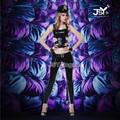 6015 Black Leather Police Costume Women Sexy Uniform Party Dress Halloween Costumes for women Fancy Dress