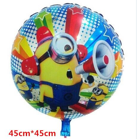 HOT 10pcs Lot Best Quality Despicable ME Minion Stewart Foil Balloon