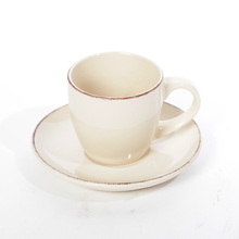 12pcs set Tableware nostalgic color porcelain cup saucer set quality European ceramic coffee cup set creative