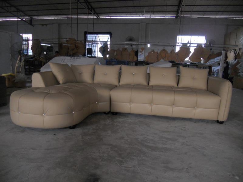 Modern home furniture living room leather sofa genuine leather sectional sofa set Chaise sofa triple seat leather sofa(China (Mainland))