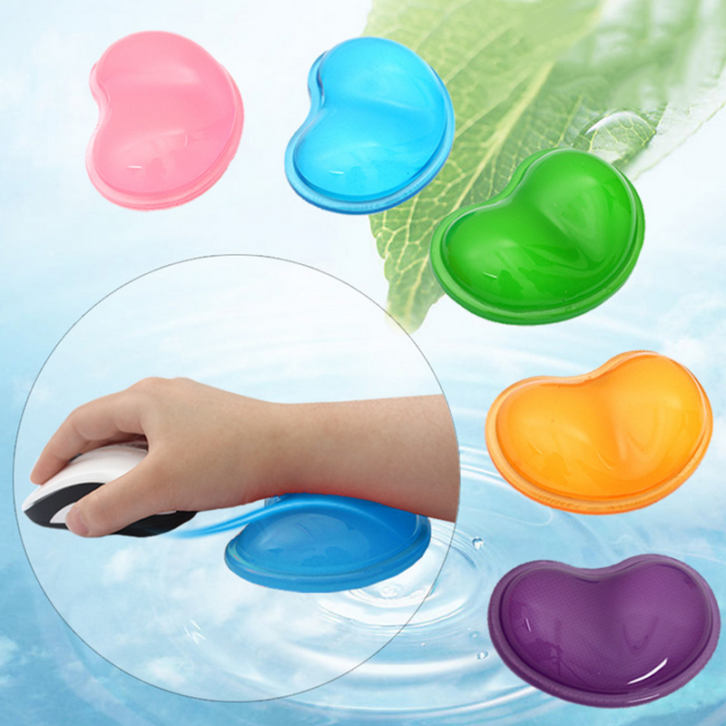 Lovely Heart Transparent silicone wristbands mouse pad Wrist support Hand rest game pad Slippery Prevent Hands pillow cold Pad(China (Mainland))