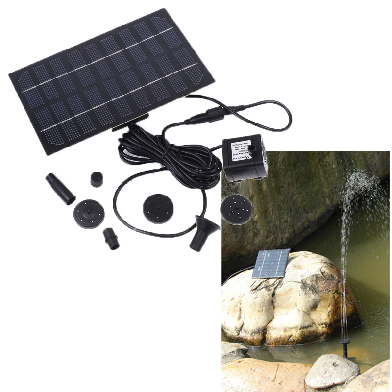 Solar Brushless Pump For Water Cycle/Pond Fountain/Rockery Fountain, freeshipping, Dropshipping(China (Mainland))