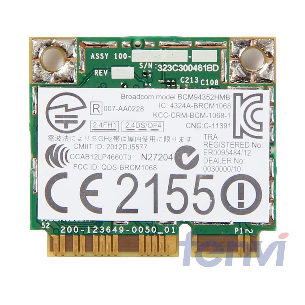 Wireless wifi BT4.0 Wlan For Broadcom BCM94352HMB Dell DW1550 Wireless-AC 867Mbps 802.11ac half Mini PCI-e bluetooth wifi card(China (Mainland))