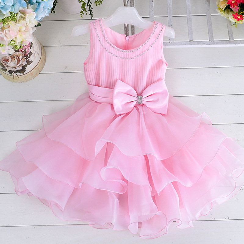 Girls easter dresses evening toddler teen age size 2t 3t 4t 5 6 7 8 years infant princess dress for birthday wedding party(China (Mainland))