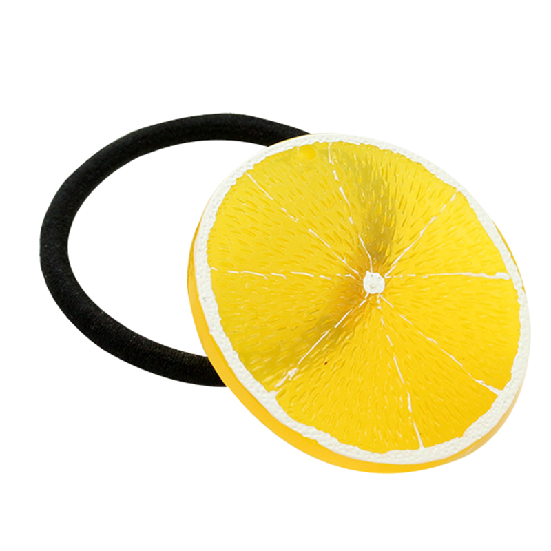 7 Funny Food Design Elastic Hair Bands Available Novelty Fruit Design Hair Accessories(China (Mainland))
