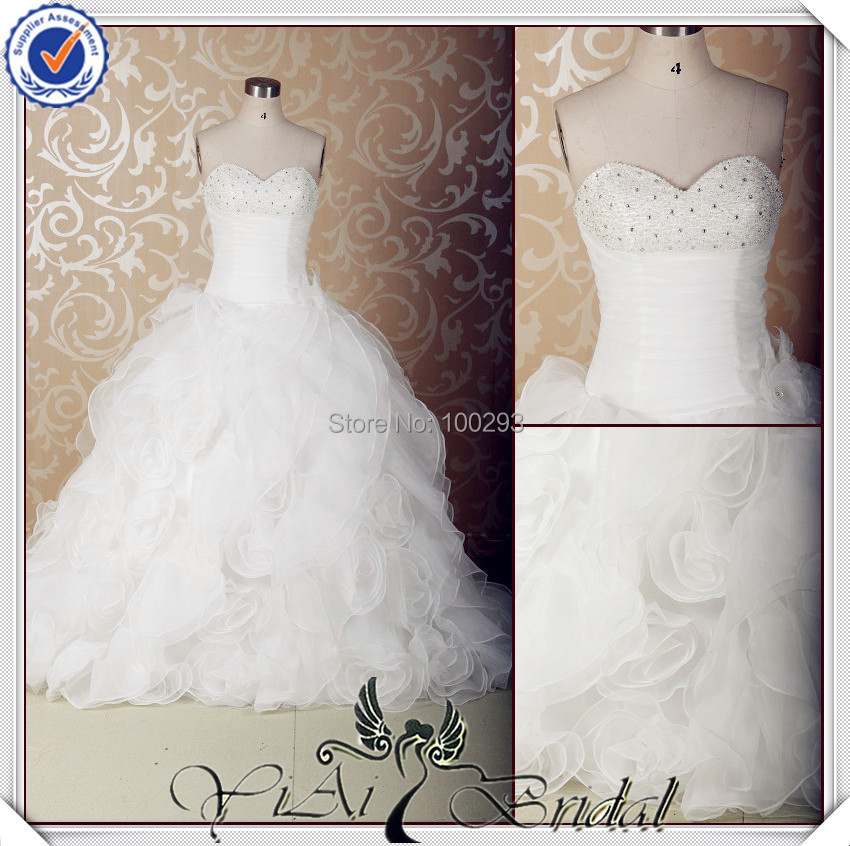 Buy ball gown oganza sweetheart wedding for Maid of honor wedding dress