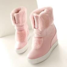 2016 australia marca cuesta con las botas de nieve plataforma impermeable gruesa antideslizante interior el aumento de botas de mujer zapatos calientes(China (Mainland))