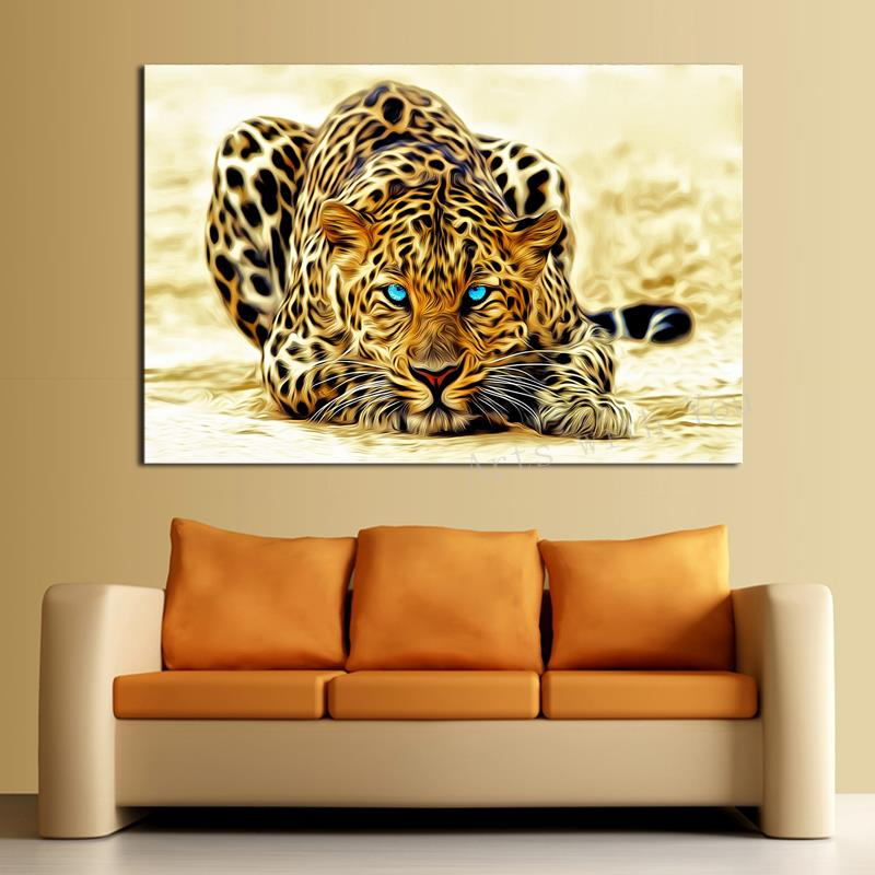 Hd Canvas Print Home Decor Wall Art Painting : Piece picture hot sell abstract leopard modern home wall