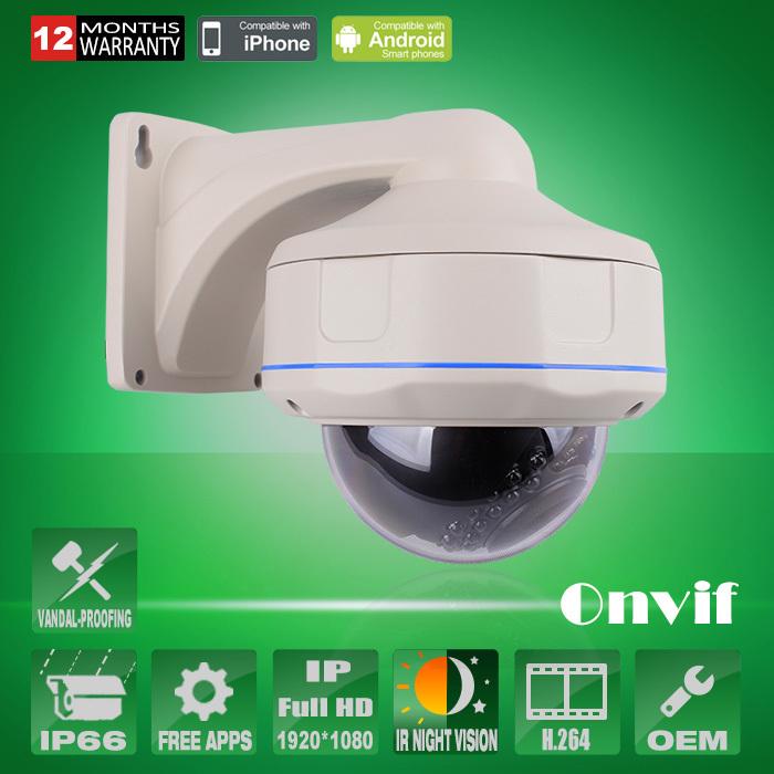 1920*1080P 2.0MP Megapixel HD Onvif Waterproof Vandalproof Network IP Camera IR Security CCTV Surveillance Camera