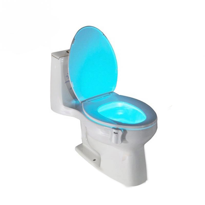 GT-lite Colorful LED Night Light Motion Sensor Automatic Toilet Hanging Light Bowl with Color Setting Battery-Operated GTTL101(China (Mainland))