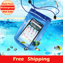 Hot Sale Mobile Phone Waterproof Bag Case Cover Underwater for Touch Water proof Mobile Phone Accessories & Parts Free Shipping(China (Mainland))