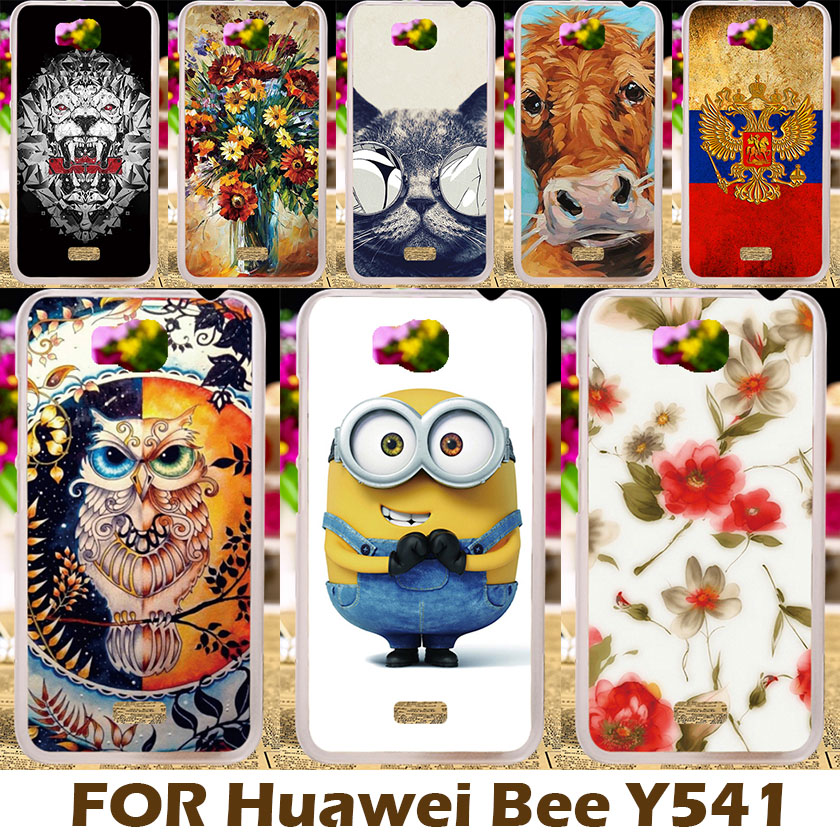 Custom Painted Hard Plastic Cell Phone Case Cover For Huawei Honor Bee Y541 Y5C Bag Cases For Huawei Y541 Y5C Fundas Capa(China (Mainland))