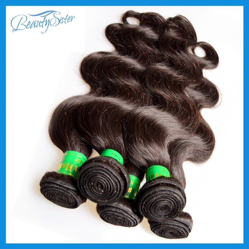 Unprocessed indian humano hair free shipping, Indian body wave hair,6A Grade,indian hair extension. 8pcs/lot ,color 1b 10-28inch(China (Mainland))